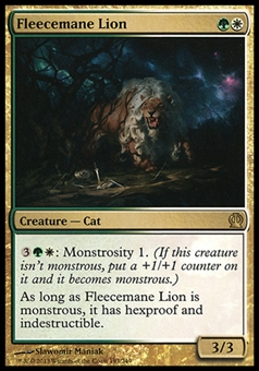 Magic the Gathering Theros Single Fleecemane Lion FOIL - SLIGHT PLAY (SP)