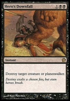 Magic the Gathering Theros Single Hero's Downfall - MODERATE PLAY (MP)