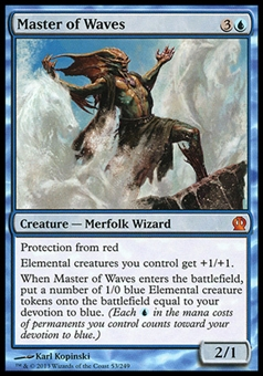 Magic the Gathering Theros Single Master of Waves FOIL - SLIGHT PLAY (SP)