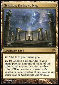 Magic the Gathering Theros Single Nykthos, Shrine to Nyx - SLIGHT PLAY (SP)