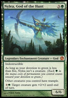 Magic the Gathering Theros Single Nylea, God of the Hunt FOIL - MODERATE PLAY (MP)