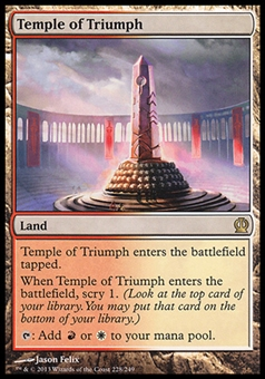 Magic the Gathering Theros Single Temple of Triumph FOIL - SLIGHT PLAY (SP)