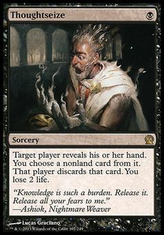 Magic the Gathering Theros Single Thoughtseize - MODERATE PLAY (MP)