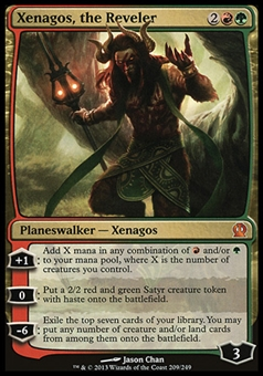 Magic the Gathering Theros Single Xenagos, the Reveler FOIL - SLIGHT PLAY (SP)