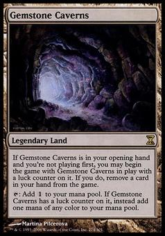 Magic The Gathering Time Spiral Single Gemstone Caverns - SLIGHT PLAY (SP)