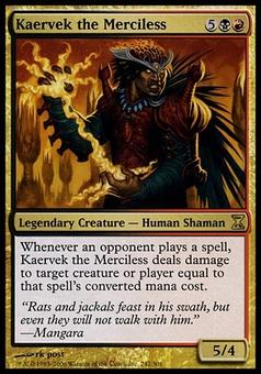 Magic the Gathering Time Spiral Single Kaervek the Merciless Foil - NEAR MINT (NM)