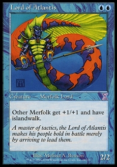 Magic the Gathering Time Spiral CHINESE Single Lord of Atlantis - NEAR MINT (NM)
