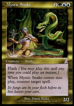Magic the Gathering Time Spiral Single Mystic Snake FOIL - SLIGHT PLAY (SP)