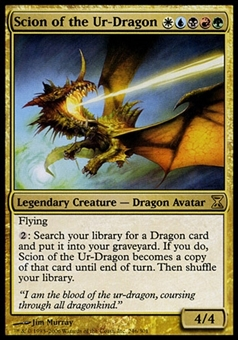 Magic the Gathering Time Spiral Single Scion of the Ur-Dragon - SLIGHT PLAY (SP)