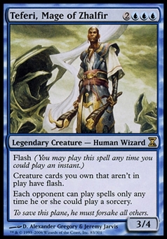 Magic the Gathering Time Spiral Single Teferi, Mage of Zhalfir - MODERATE PLAY (MP)