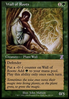 Magic the Gathering Time Spiral Single Wall of Roots FOIL - SLIGHT PLAY (SP)