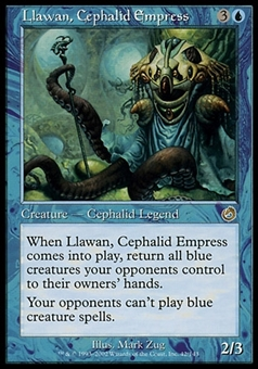 Magic the Gathering Torment Single Llawan, Cephalid Empress FOIL - SLIGHT PLAY (SP)