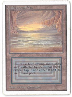 Magic the Gathering Unlimited Single Underground Sea - SLIGHT / MODERATE PLAY (SP/MP)