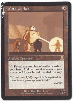 Magic the Gathering Urza's Destiny Single Metalworker - HEAVY PLAY (HP)