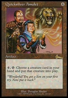 Magic the Gathering Urza's Saga Single Quicksilver Amulet - MODERATE PLAY (MP)