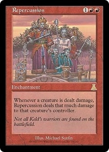 Magic the Gathering Urza's Destiny Single Repercussion - SLIGHT PLAY (SP)