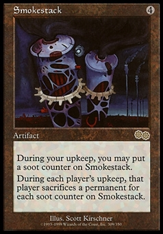 Magic the Gathering Urza's Saga Single Smokestack - MODERATELY PLAYED (MP)
