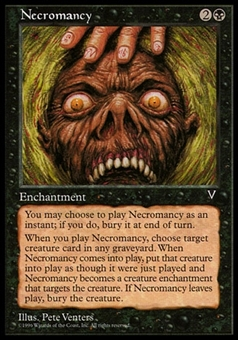 Magic the Gathering Visions Single Necromancy - MODERATELY PLAYED (MP)