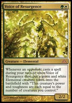 Magic the Gathering Dragon's Maze Single Voice of Resurgence - SLIGHT PLAY (SP)