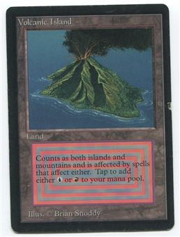 Magic the Gathering Beta Single Volcanic Island - MODERATE PLAY (MP)