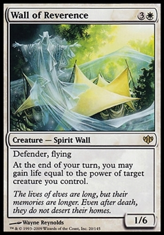 Magic the Gathering Conflux Single Wall of Reverence - SLIGHT PLAY (SP)