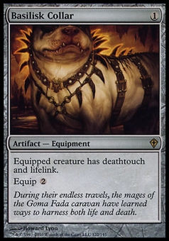 Magic the Gathering Worldwake Single Basilisk Collar - MODERATE PLAY (MP)