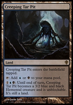 Magic the Gathering Worldwake Single Creeping Tar Pit FOIL - SLIGHT PLAY (SP)