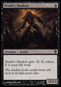 Magic the Gathering Worldwake Single Death's Shadow FOIL - MODERATE PLAY (MP)