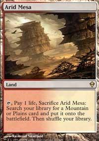 Magic the Gathering Zendikar Single Arid Mesa - HEAVY PLAY (HP)