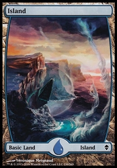 Magic the Gathering Zendikar Basic Island #236 FOIL - NEAR MINT (NM)