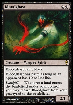 Magic the Gathering Zendikar Single Bloodghast - SLIGHT PLAY (SP)