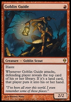 Magic the Gathering Zendikar Single Goblin Guide - SLIGHT PLAY (SP)