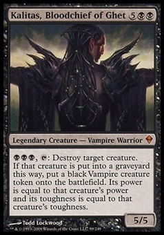 Magic the Gathering Zendikar Single Kalitas, Bloodchief of Ghet - SLIGHT PLAY (SP)
