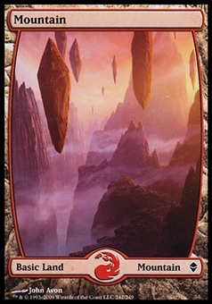 Magic the Gathering Zendikar Single Mountain FOIL (#242) - NEAR MINT (NM)