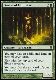 Magic the Gathering Zendikar Single Oracle of Mul Daya FOIL - MODERATE PLAY (MP)