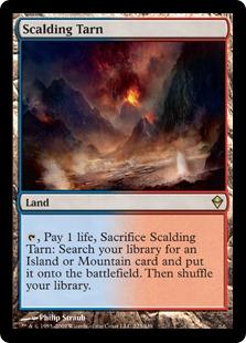 Magic the Gathering Zendikar Single Scalding Tarn - SLIGHT / MODERATE PLAY (SP/MP)