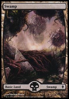 Magic the Gathering Zendikar Single Swamp (#241) FOIL - NEAR MINT (NM)