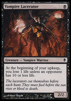 Magic the Gathering Zendikar Single Vampire Lacerator FOIL - NEAR MINT (NM)
