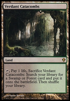 Magic the Gathering Zendikar Single Verdant Catacombs FOIL - SLIGHT PLAY (SP)