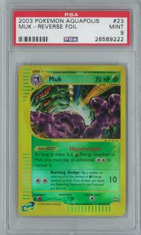 Pokemon Aquapolis Muk 23/147 Reverse Foil PSA 9