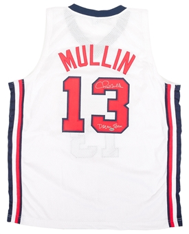 "Chris Mullin Autographed USA Basketball Jersey with ""Dream Team"" Inscription (Leaf)"