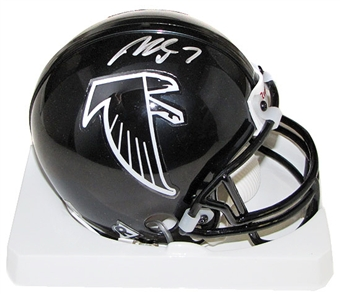 Michael Vick Autographed Atlanta Falcons Mini Football Helmet (PSA COA)