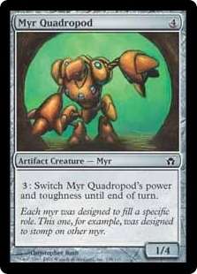 Magic the Gathering Fifth Dawn Single Myr Quadropod Foil