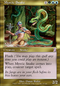 Magic the Gathering Time Spiral Single Mystic Snake - NEAR MINT (NM)