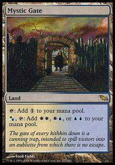 Magic the Gathering Shadowmoor Single Mystic Gate FOIL - MODERATE PLAY (MP)