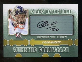 2012/13 In the Game Between The Pipes Autographs #AEN Evgeni Nabokov SG SP Autograph