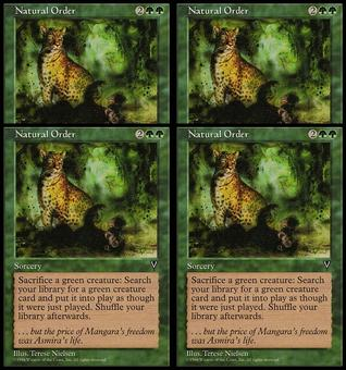 Magic the Gathering Visions PLAYSET Natural Order - NEAR MINT (NM)