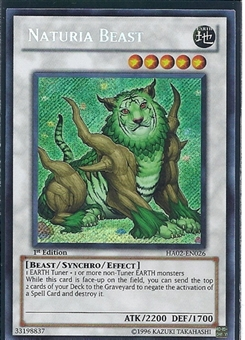 Yu-Gi-Oh Hidden Arsenal 2 Single Naturia Beast Secret Rare