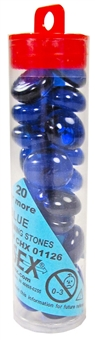 "Chessex Dark Blue Glass Stones 4"" Tube"
