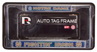 Notre Dame Fighting Irish Chrome License Plate Frame - Regular Price $12.95 !!!